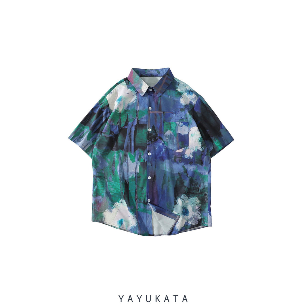 YAYUKATA Shirts XL WA4 Casual Summer Short Sleeve