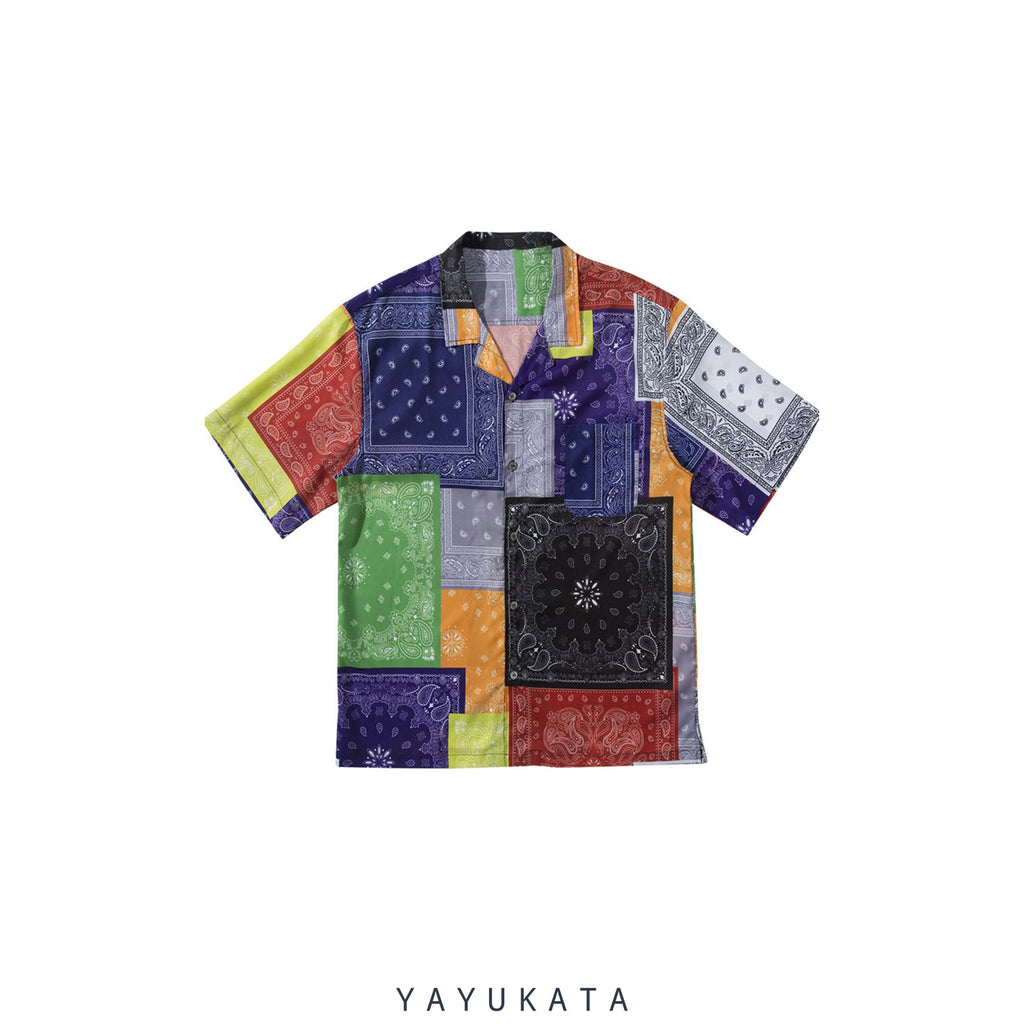 YAYUKATA Shirts XL WB2 Abstract Summer Shirt