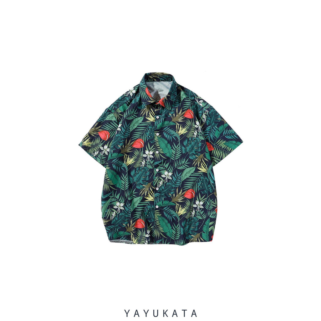 YAYUKATA Shirts XL YU1 Printed Beach Shirt