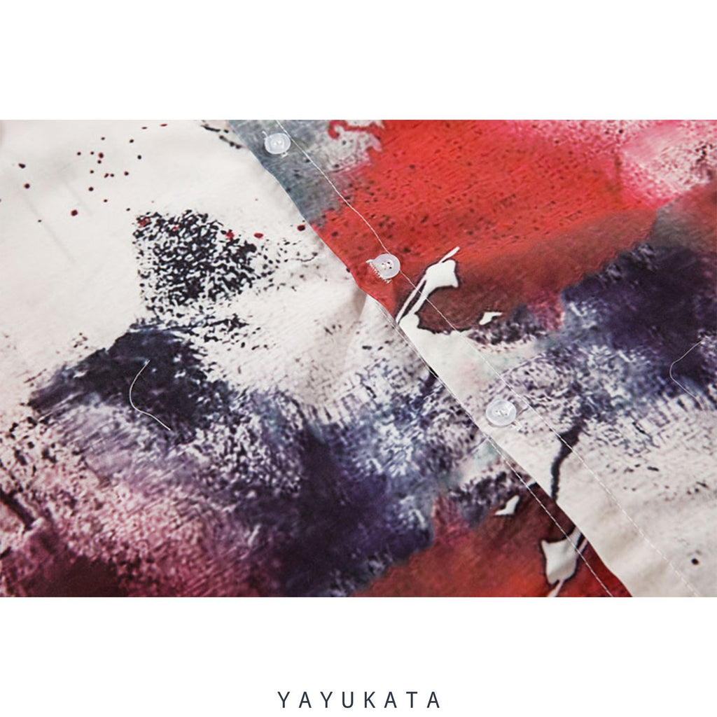 YAYUKATA Shirts YP4 Abstract Harajuku Shirt