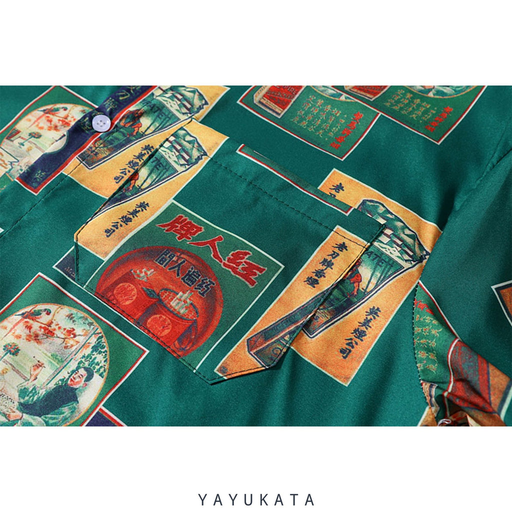 YAYUKATA Shirts YX1 Casual Printed Summer Shirt