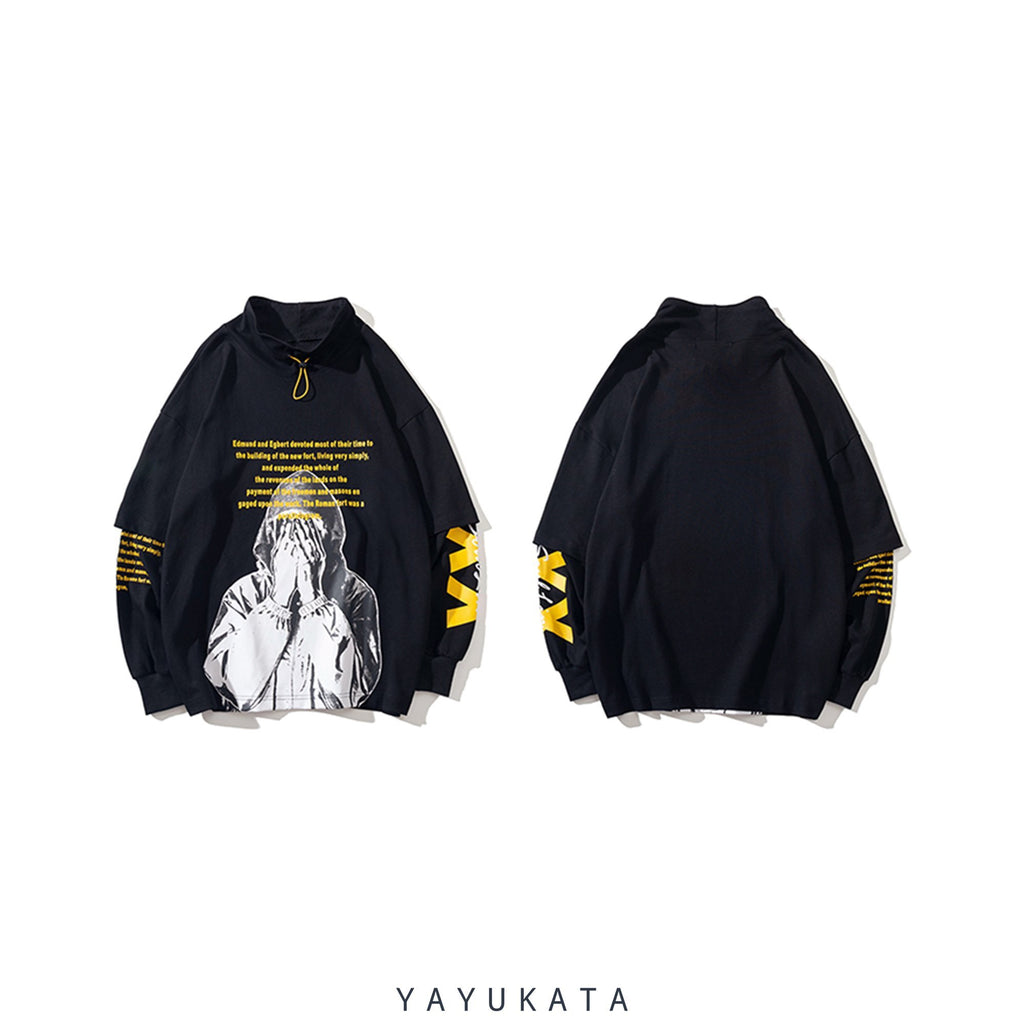YAYUKATA Sweaters AG5 Printed Turtleneck Sweater