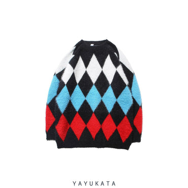 YAYUKATA Sweaters BLACK / M YJ4 Knitted Harajuku Sweater