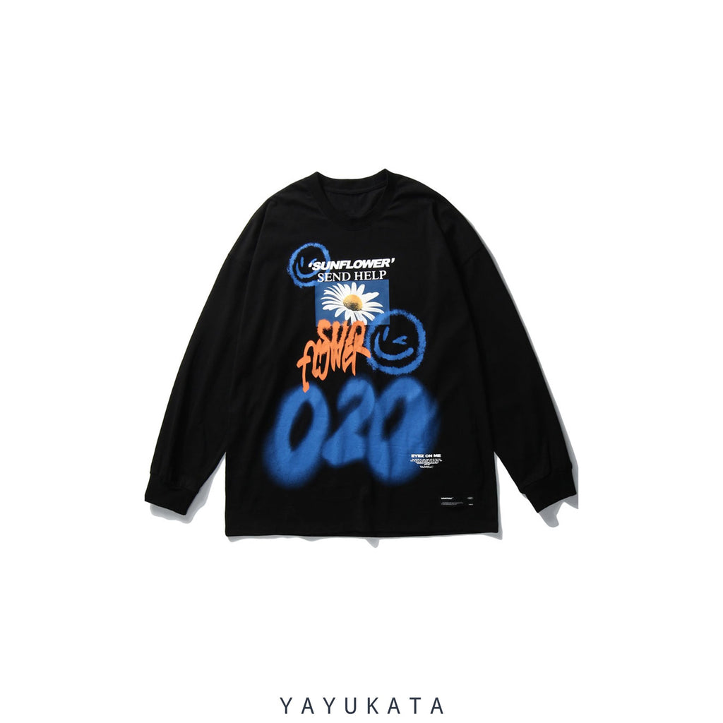 YAYUKATA Sweaters BLACK / XL QV1 Graffiti Cotton Sweater