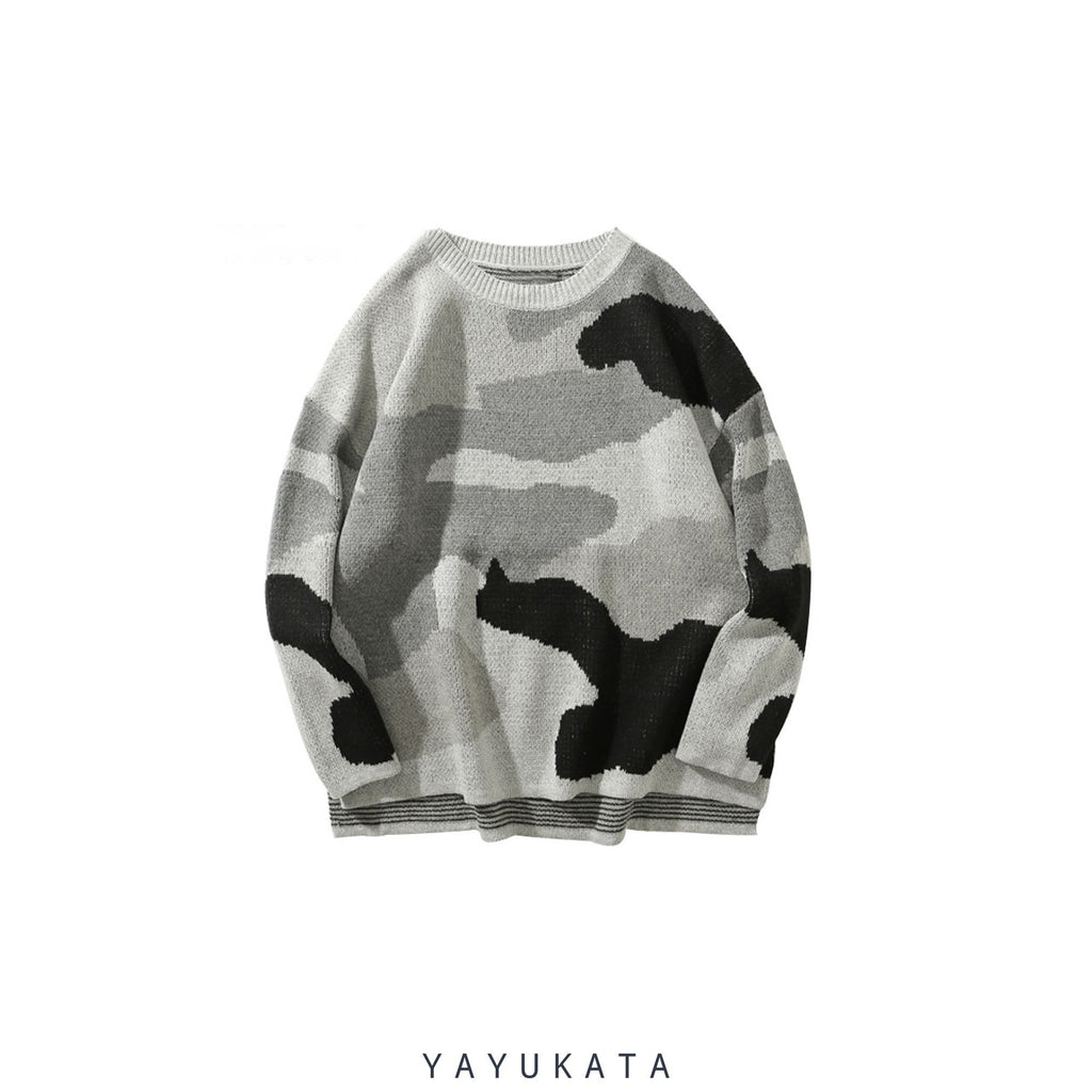 YAYUKATA Sweaters L YB2 Knitted Camo Sweater