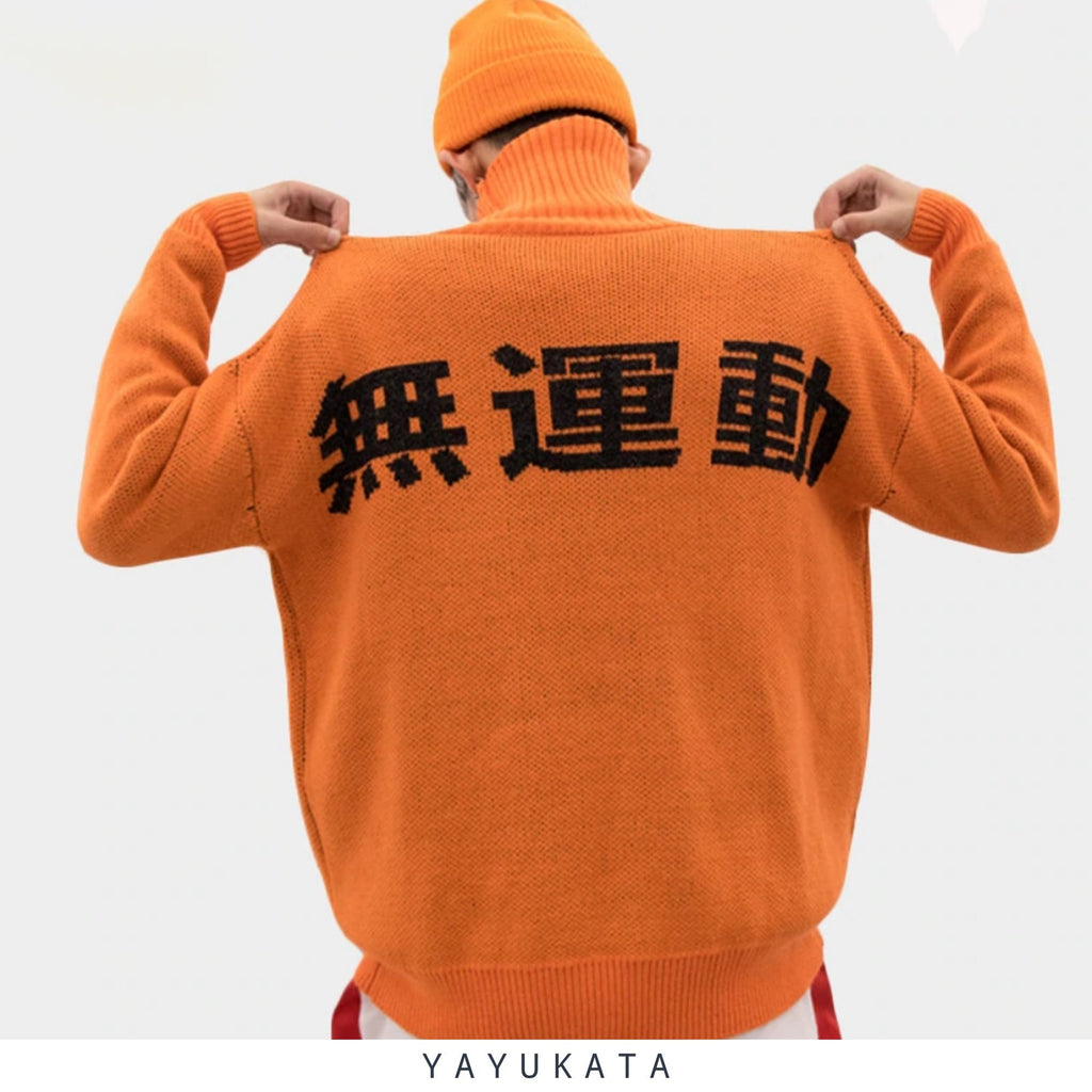 YAYUKATA Sweaters Orange / L YAYUKATA YK2 Harajuku Street Wear Sweater