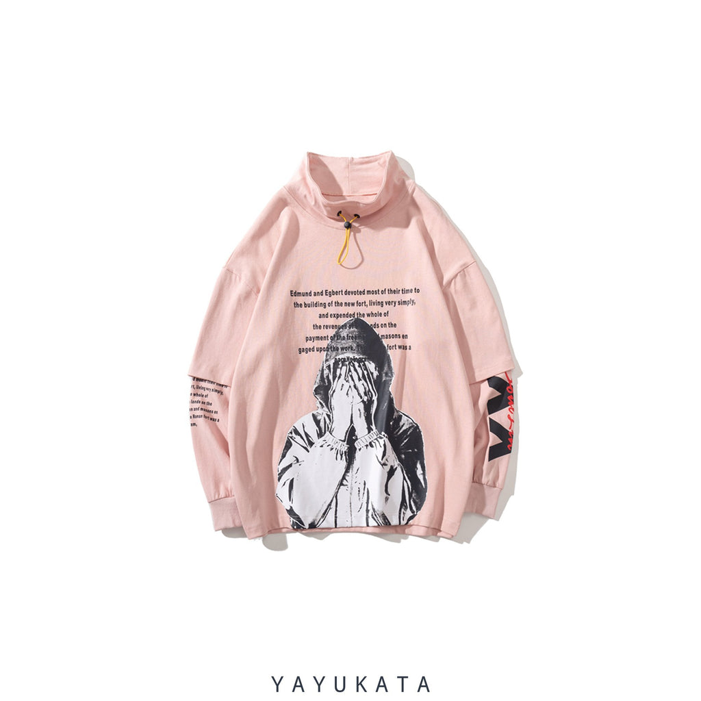 YAYUKATA Sweaters Pink / M AG5 Printed Turtleneck Sweater