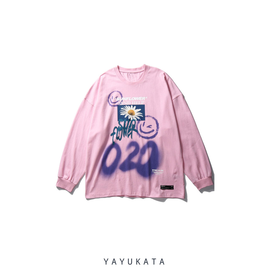 YAYUKATA Sweaters PINK / XL QV1 Graffiti Cotton Sweater