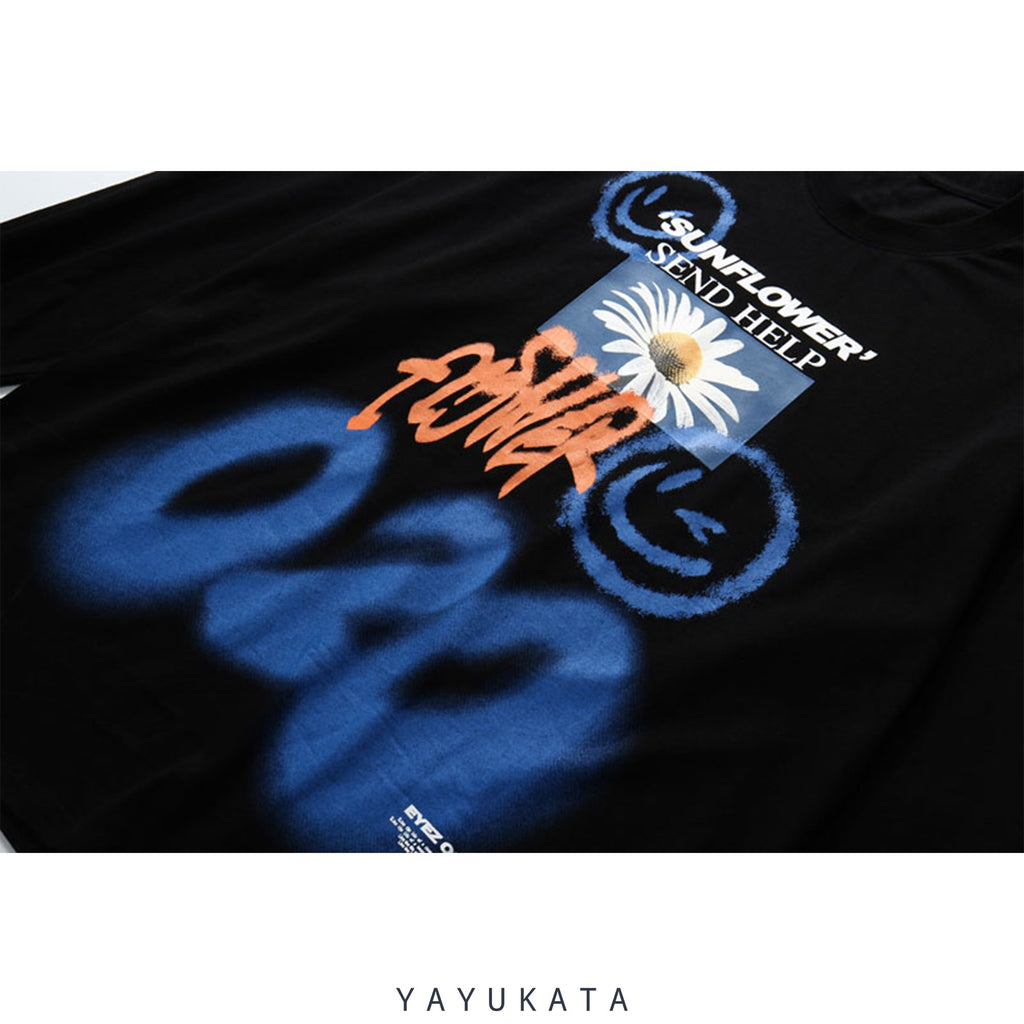 YAYUKATA Sweaters QV1 Graffiti Cotton Sweater