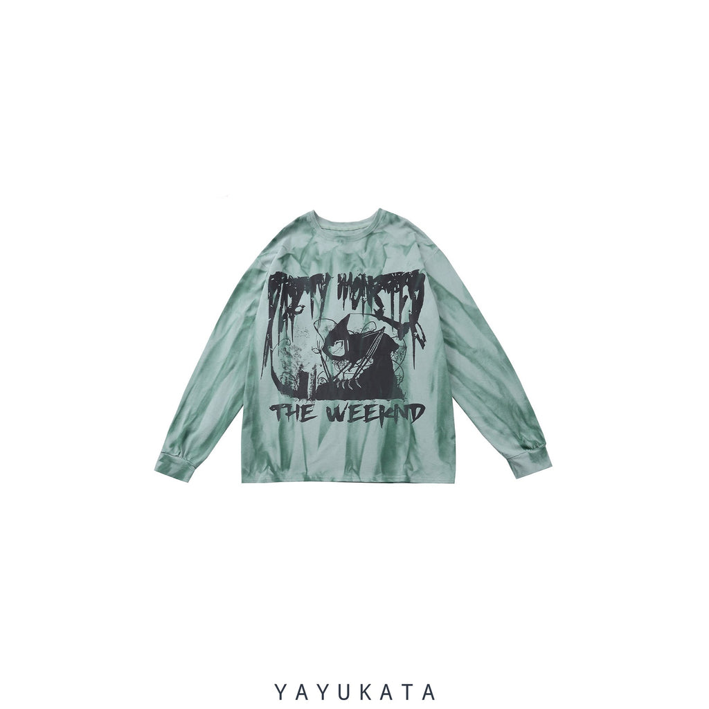 YAYUKATA Sweaters VB9 Dark Witch Printed Cotton Sweater