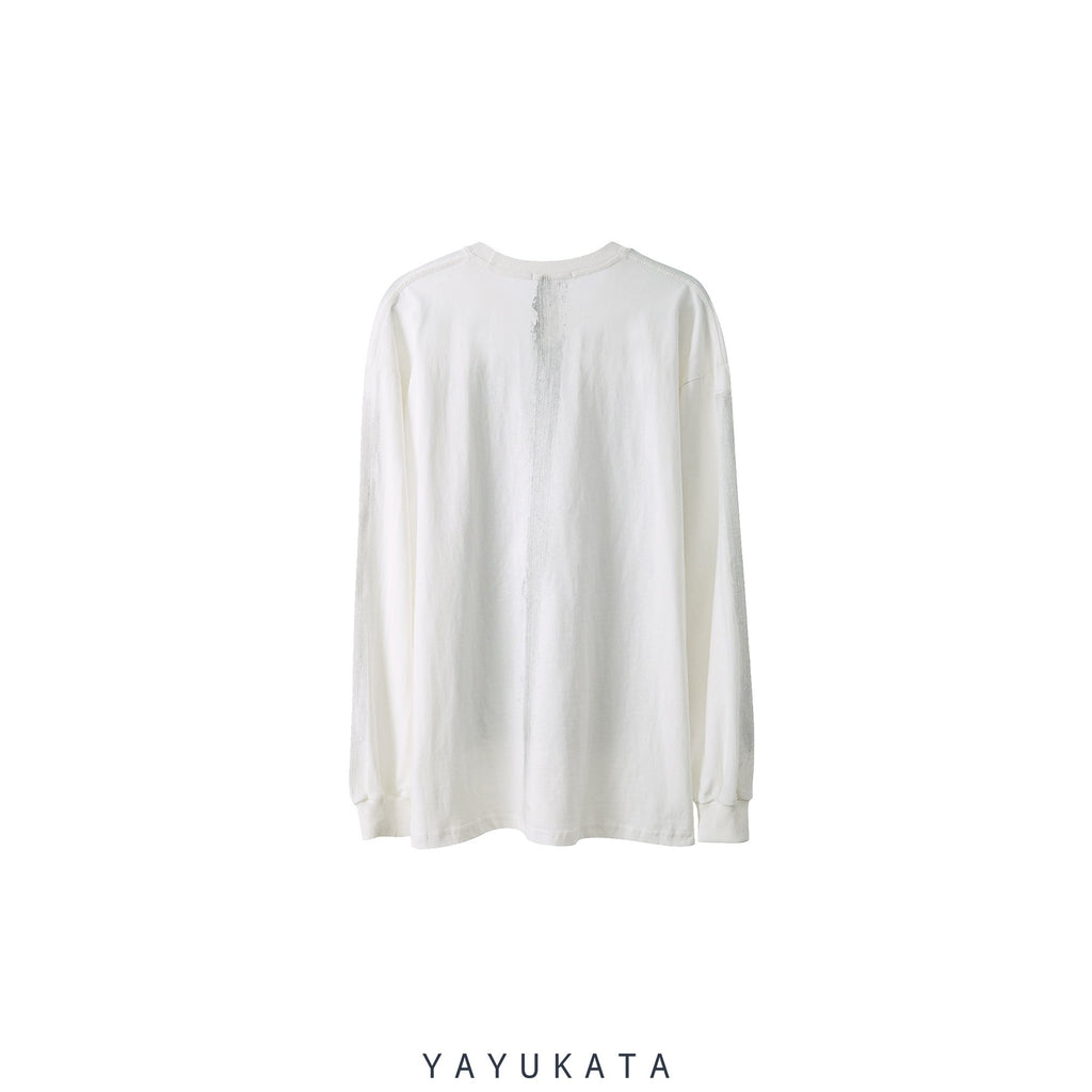 "YAYUKATA Sweaters VC2 Loose ""Weird Face Print"" Sweater"