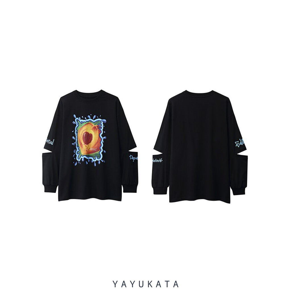 YAYUKATA Sweaters VE3 Fruit Printed Oversize Sweater