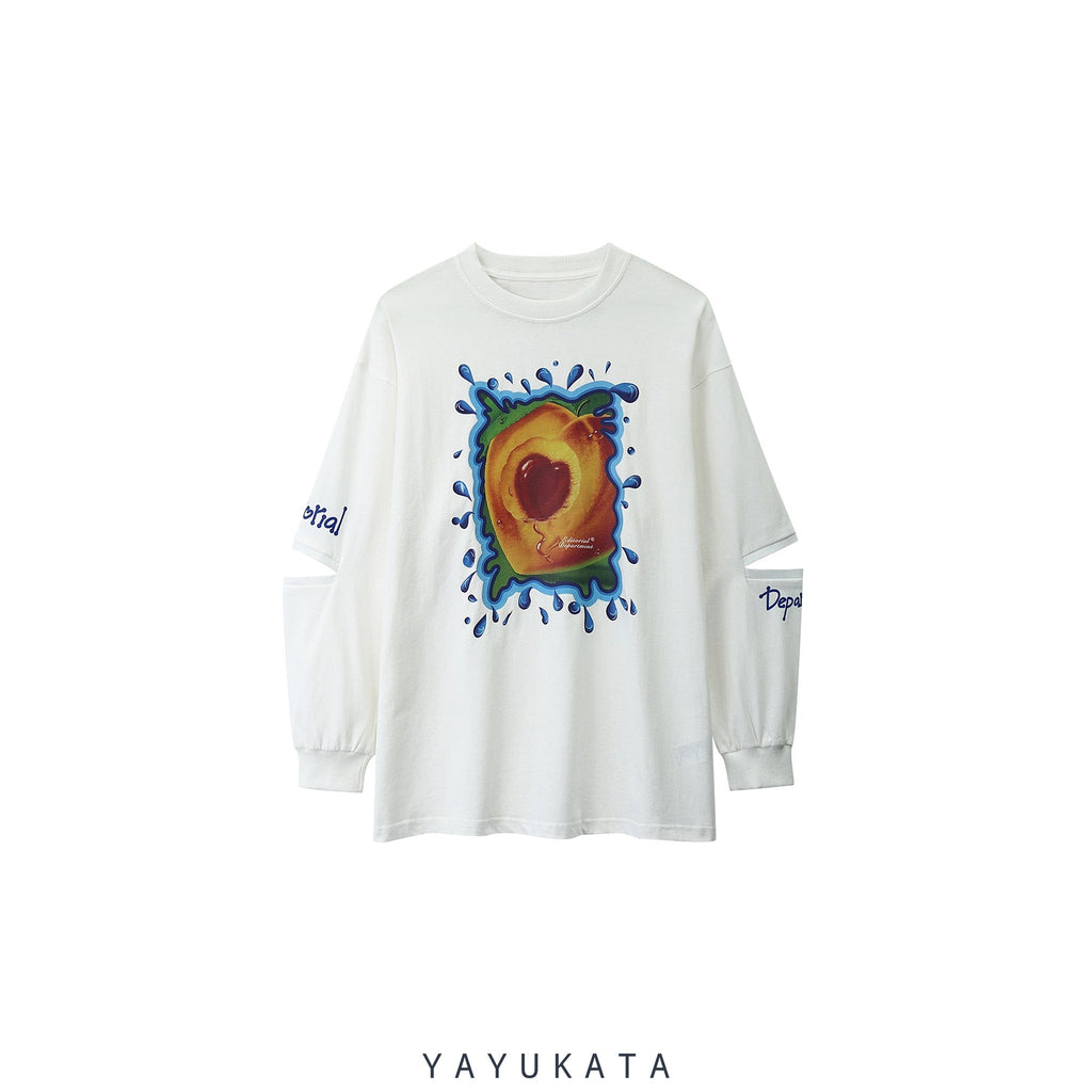 YAYUKATA Sweaters WHITE / L VE3 Fruit Printed Oversize Sweater