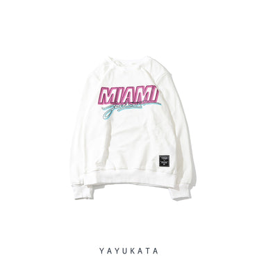 YAYUKATA Sweaters WHITE / M YM3 Printed Neon Sweater
