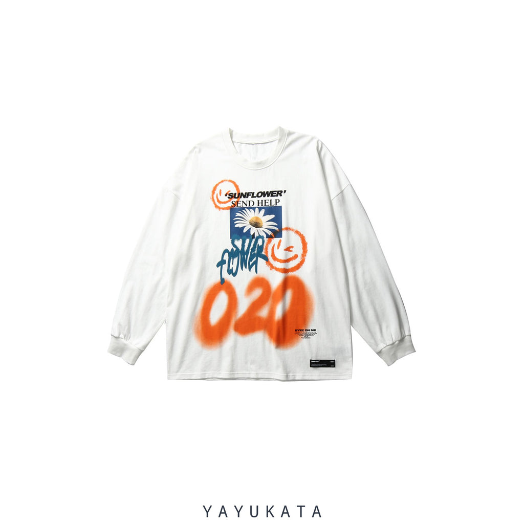 YAYUKATA Sweaters WHITE / XL QV1 Graffiti Cotton Sweater