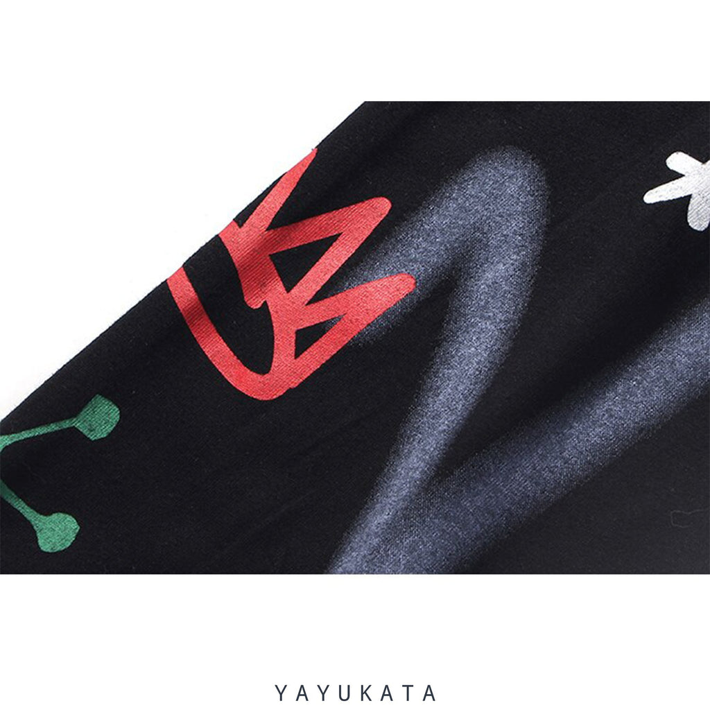 YAYUKATA Sweaters XB2 Graffiti Print Sweater