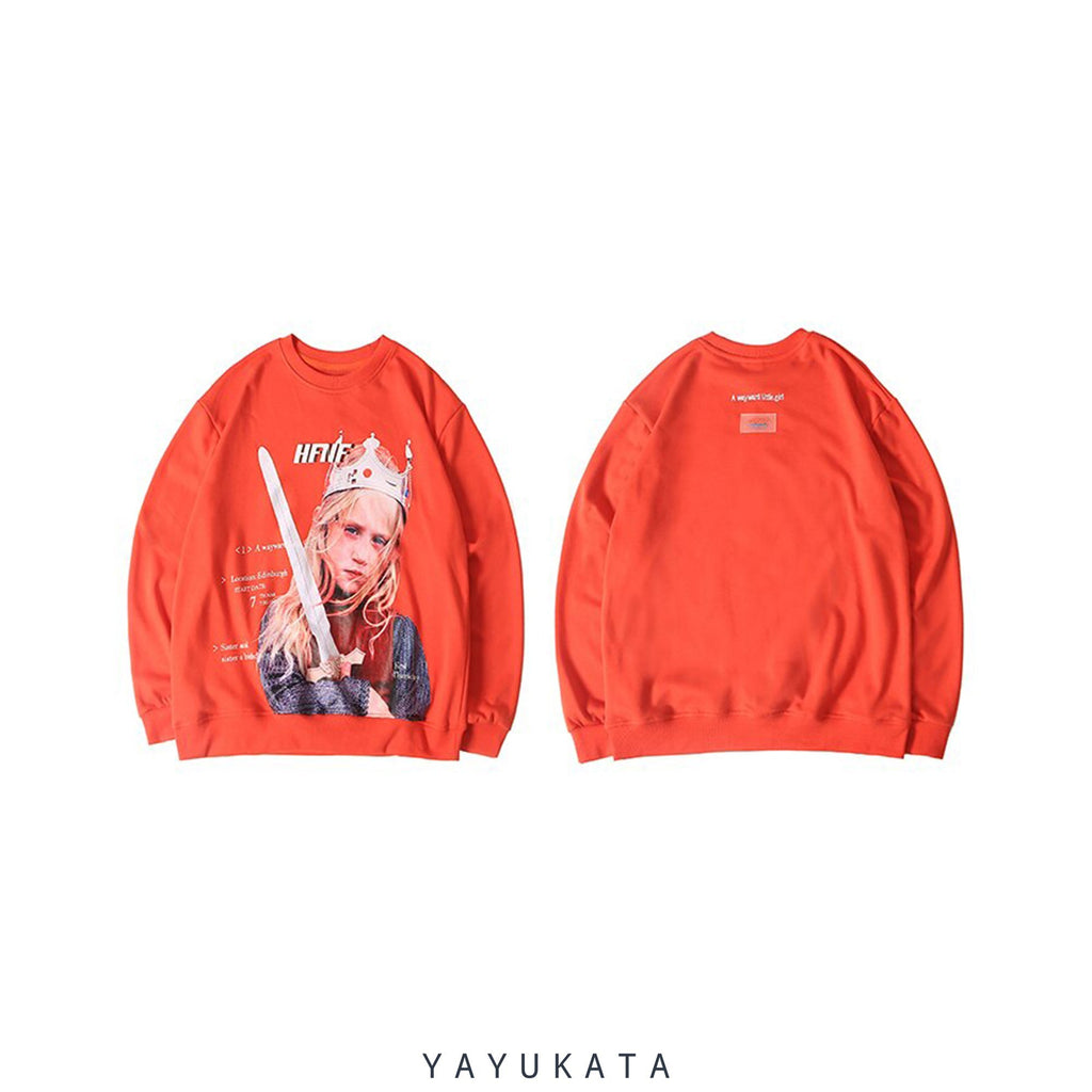 YAYUKATA Sweaters YF9 Printed Retro Sweater