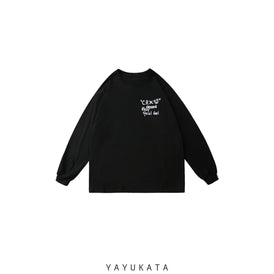 YAYUKATA Sweaters ZE0  Loose Retro Print Sweater