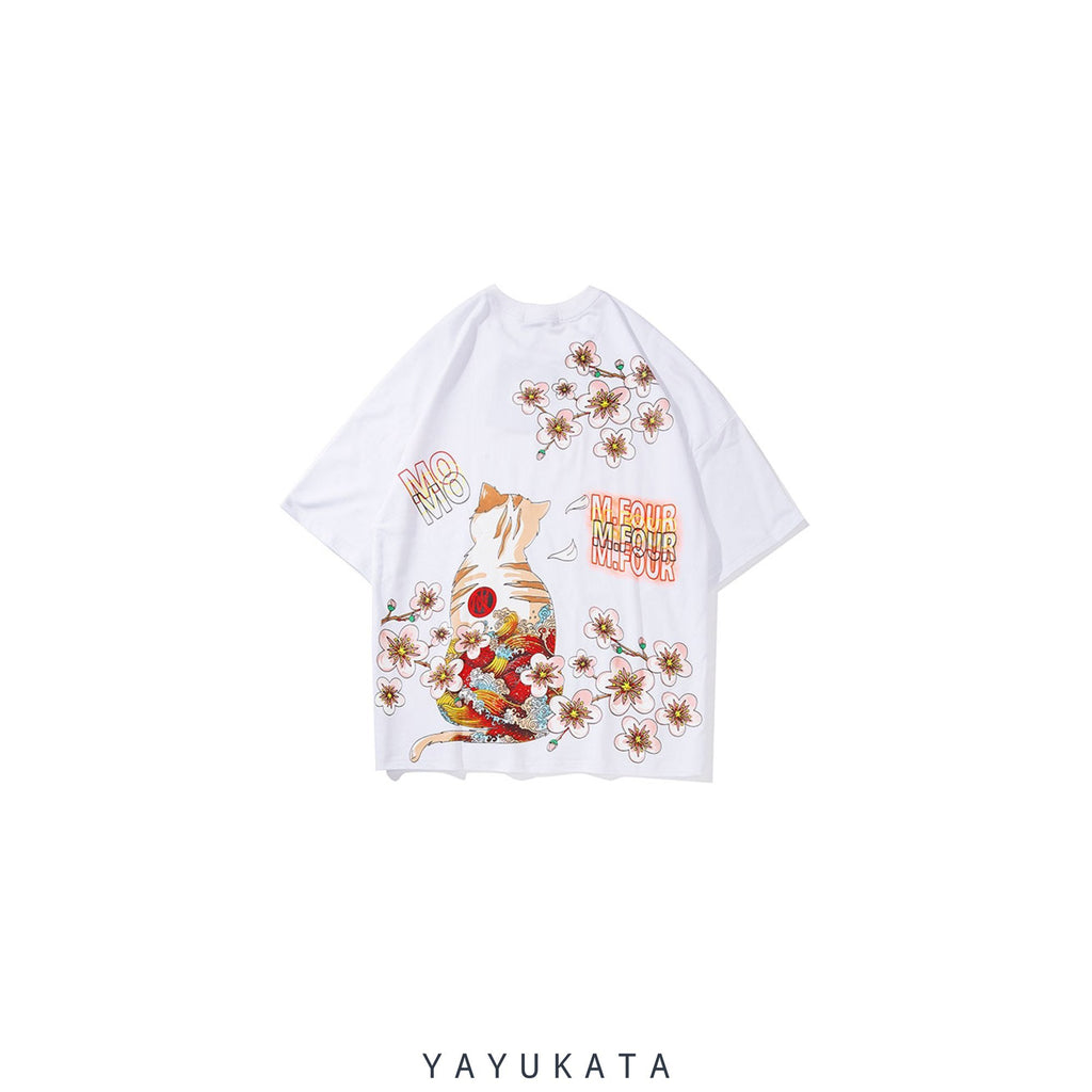 YAYUKATA Tees AT4 Harajuku Cat Tee