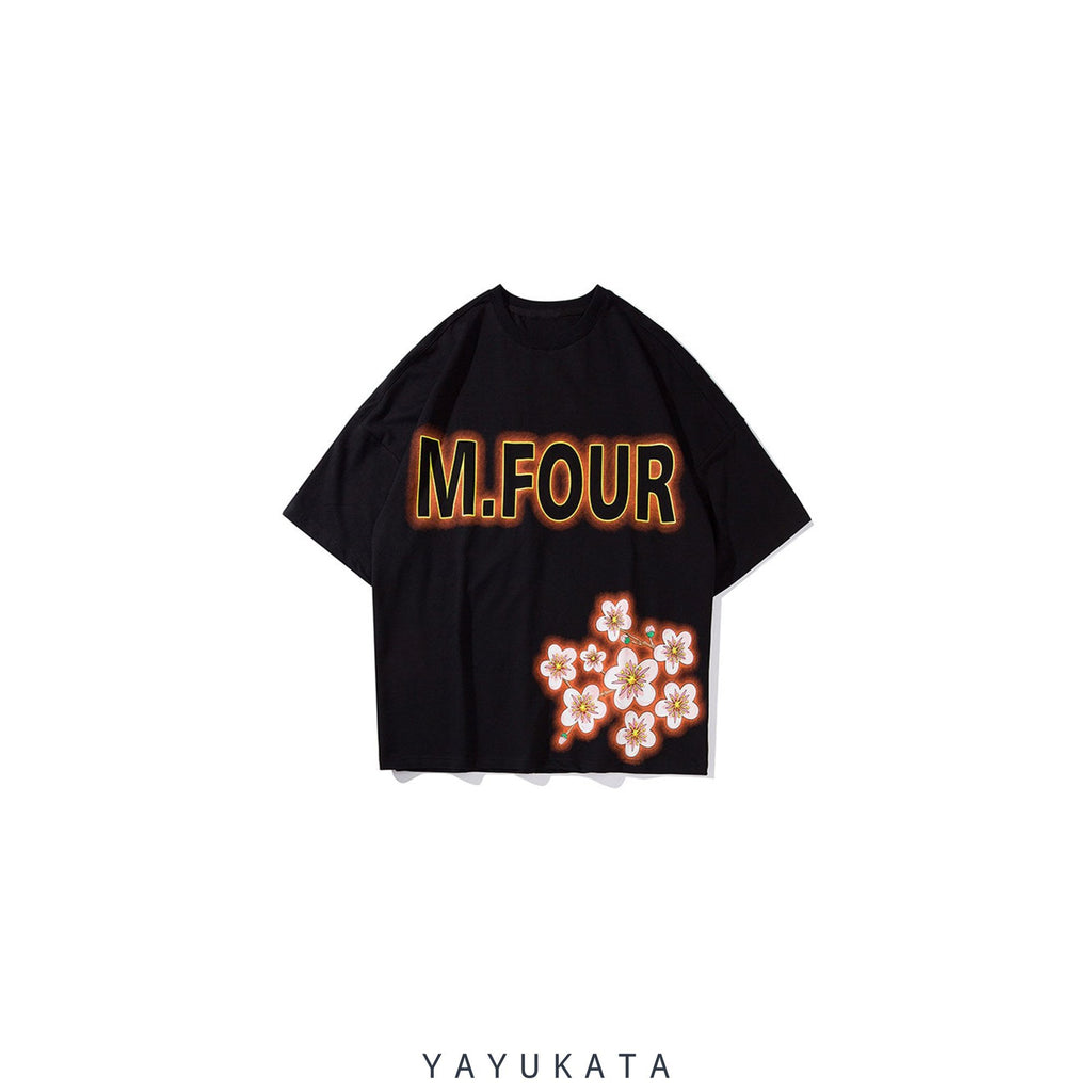 YAYUKATA Tees Black / L AT4 Harajuku Cat Tee