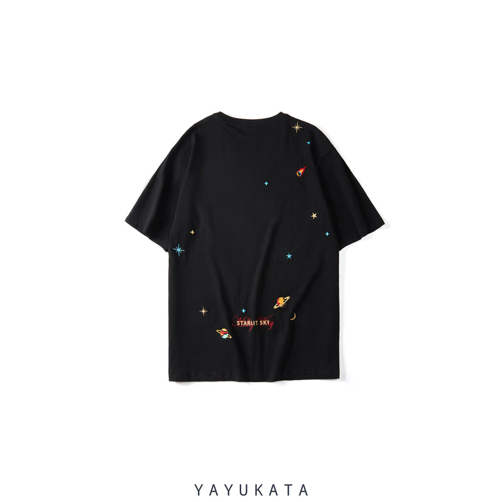 YAYUKATA Tees BLACK / L WA3 Embroidered Streetwear Tee