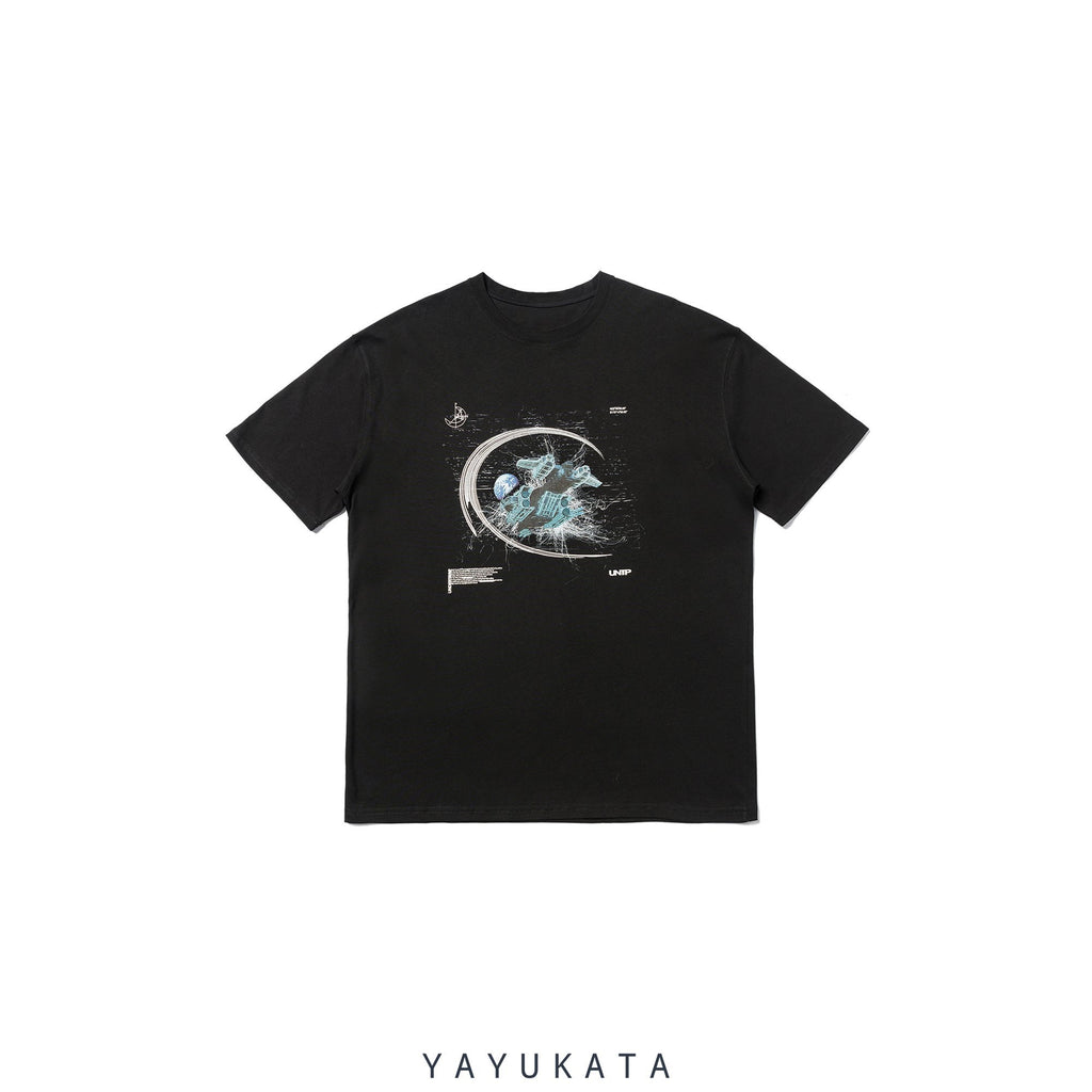YAYUKATA Tees BLACK / XS LV2 Casual Cotton Tee