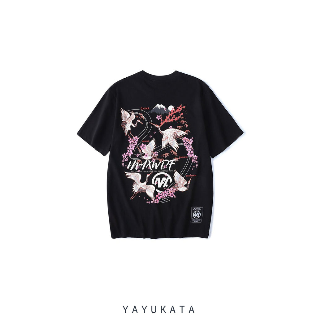 YAYUKATA Tees BLACK / XXL YR5 Japanese Cotton Tee