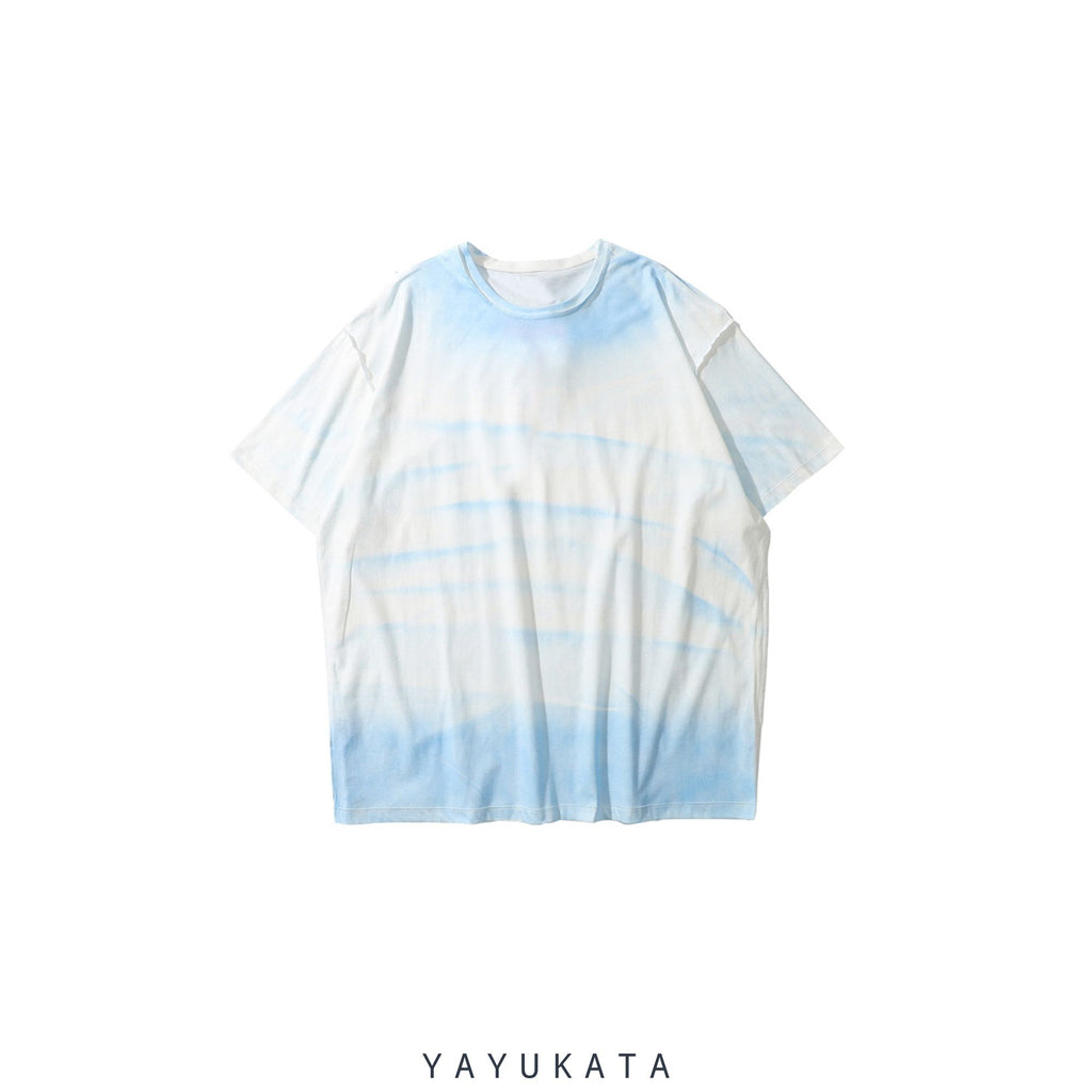 YAYUKATA Tees BLUE / M YV1 Printed Cotton Tee