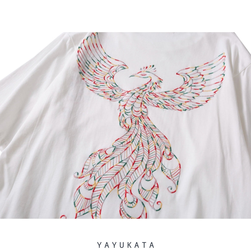 "YAYUKATA Tees DARK GREY / S YAYUKATA KX5 ""PHOENIX"" Embroidered Tee"