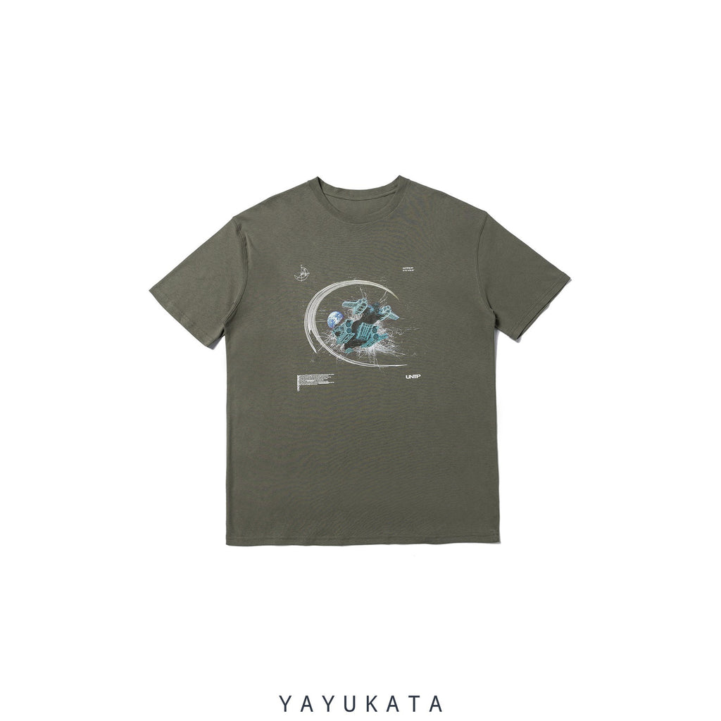 YAYUKATA Tees GRAY / S LV2 Casual Cotton Tee