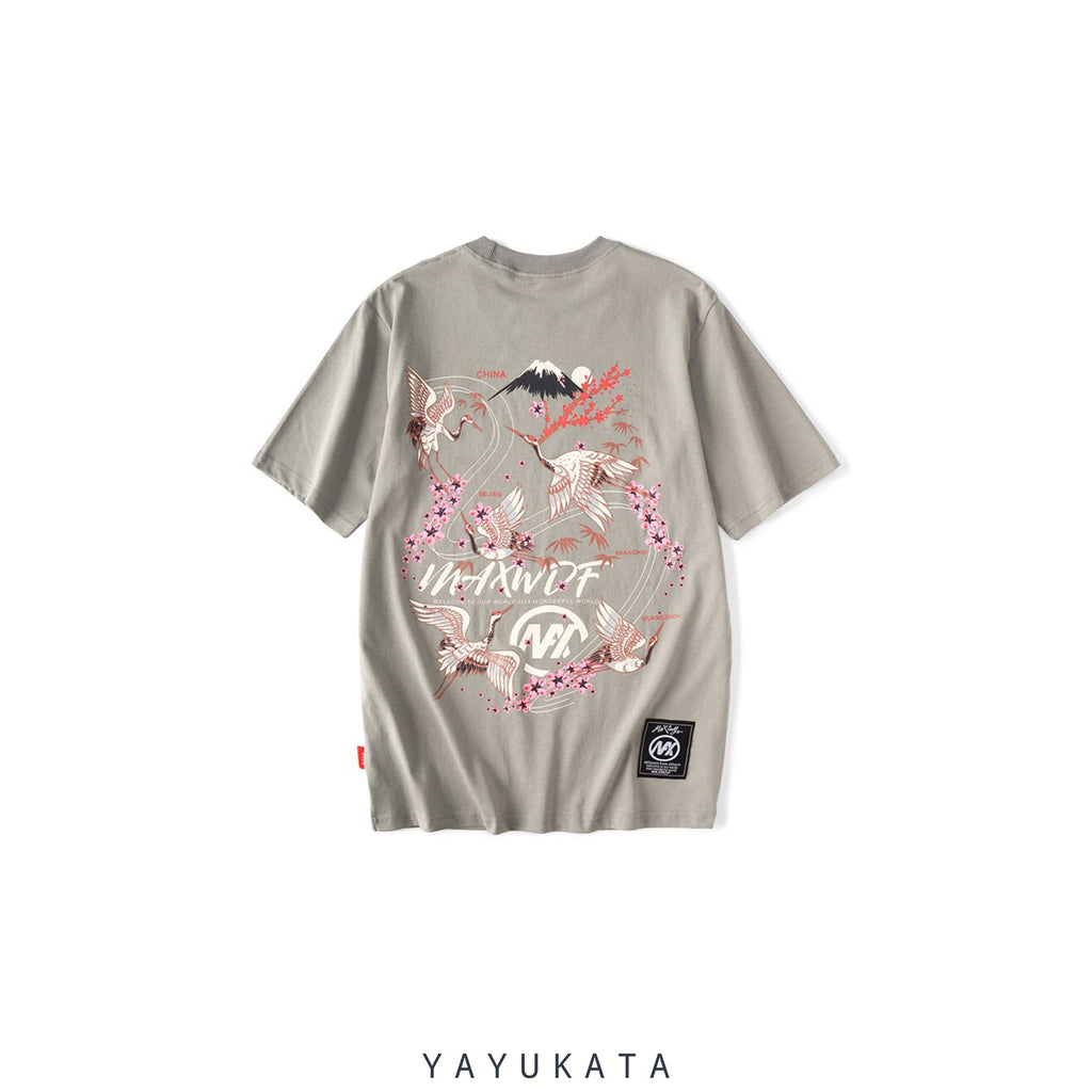 YAYUKATA Tees GRAY / XXL YR5 Japanese Cotton Tee