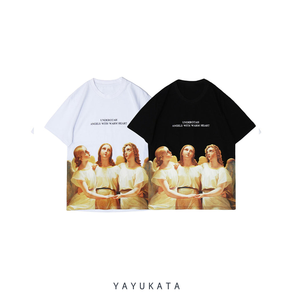 "YAYUKATA Tees MP0 ""ANGELS"" Printed Street Wear Tee"