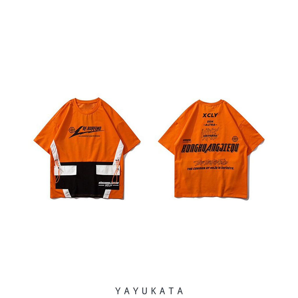YAYUKATA Tees Orange / L YC3 Front Pocket Streetwear Tee