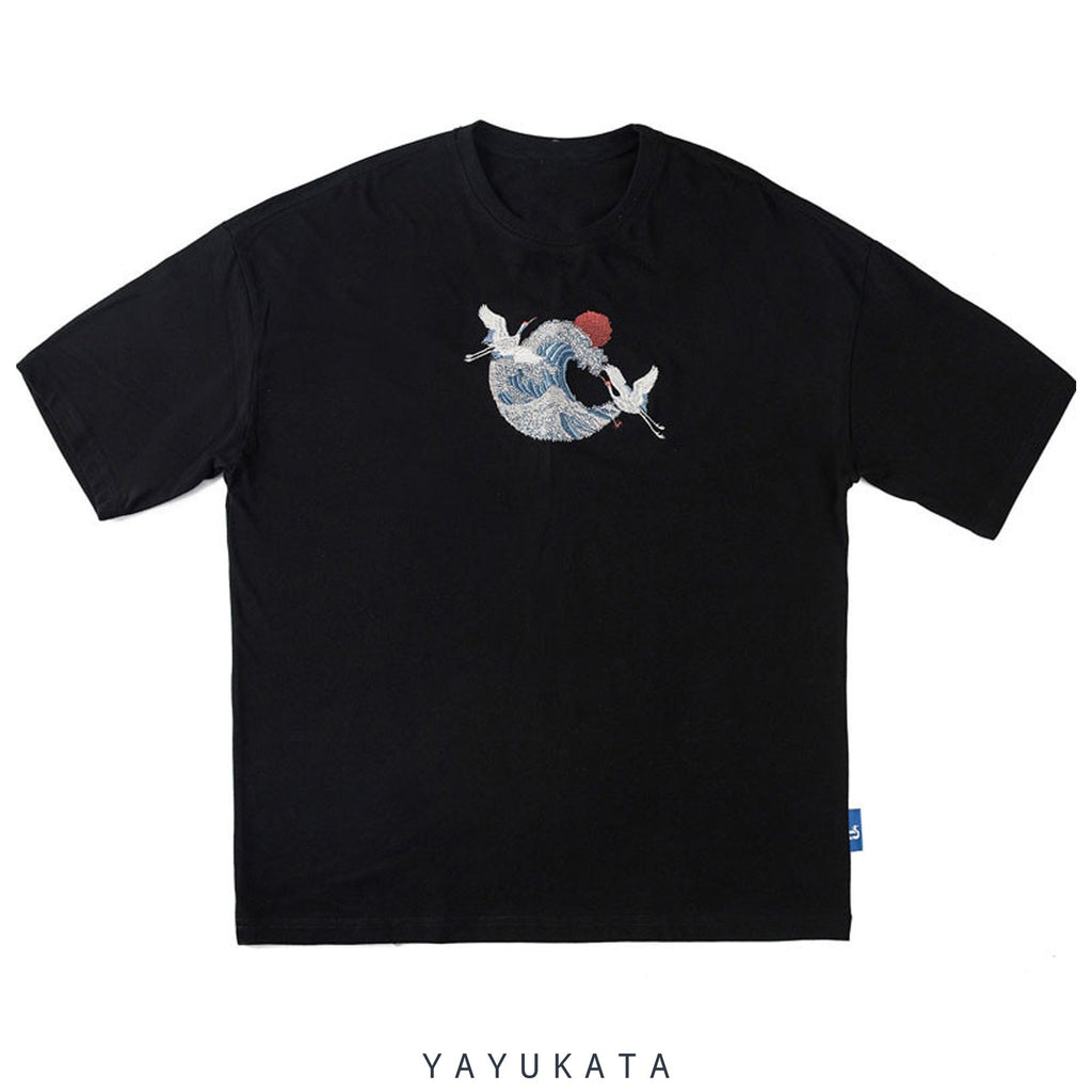 YAYUKATA Tees PQ3 Embroidered Wave Tee