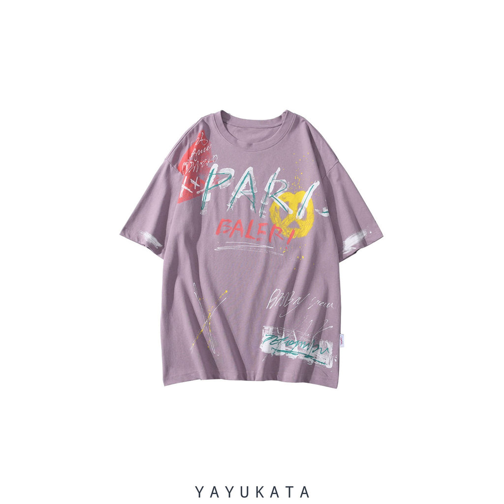 YAYUKATA Tees PURPLE / L YR9 Printed Cotton Tee