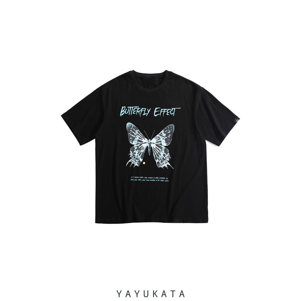 "YAYUKATA Tees S YV8 ""Butterfly Effect"" Printed Cotton Tee"