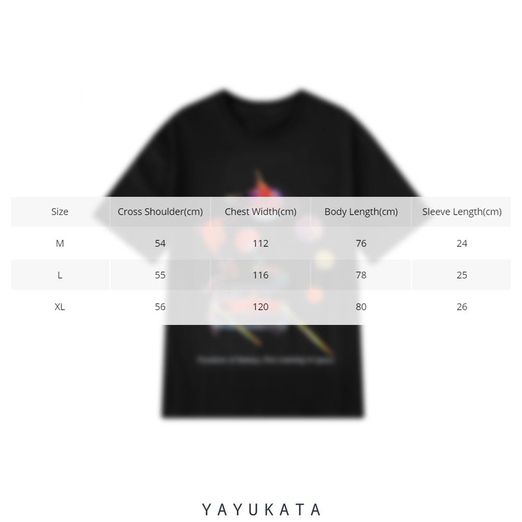 "YAYUKATA Tees VU2 ""Freedom Of Fantasy"" Retro Tee"