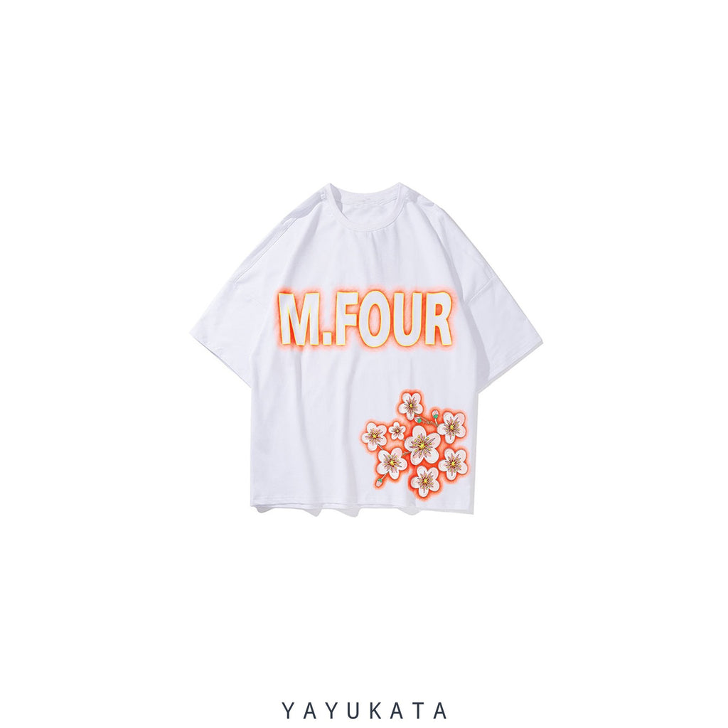 YAYUKATA Tees White / M AT4 Harajuku Cat Tee