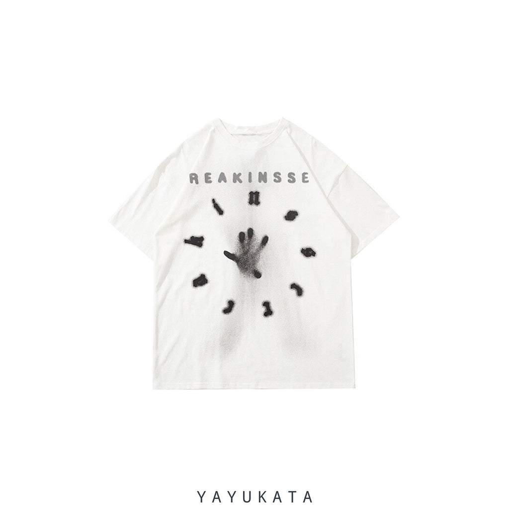 YAYUKATA Tees WHITE / M ML9 Reakinsse Printed Cotton Tee