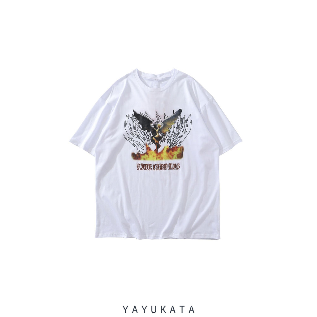 YAYUKATA Tees WHITE / M YT9 Printed Cotton Tee
