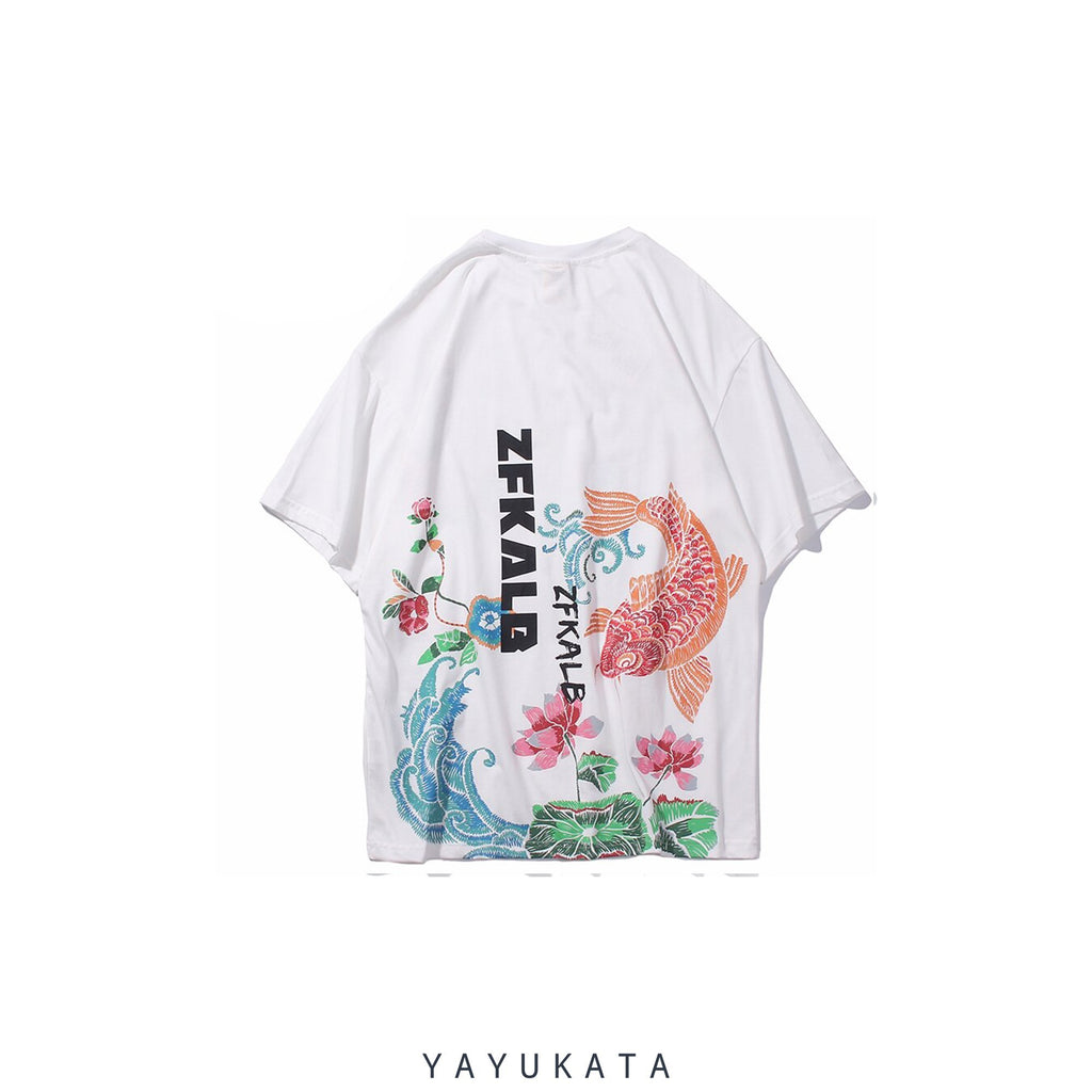 YAYUKATA Tees WHITE / S XD1 Printed Cotton Tee