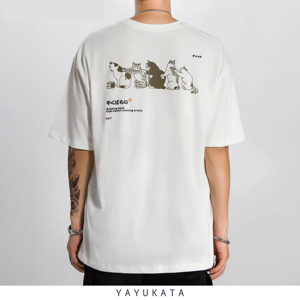 "YAYUKATA Tees WHITE / XL YA1 ""NEKO"" Cotton Tee"