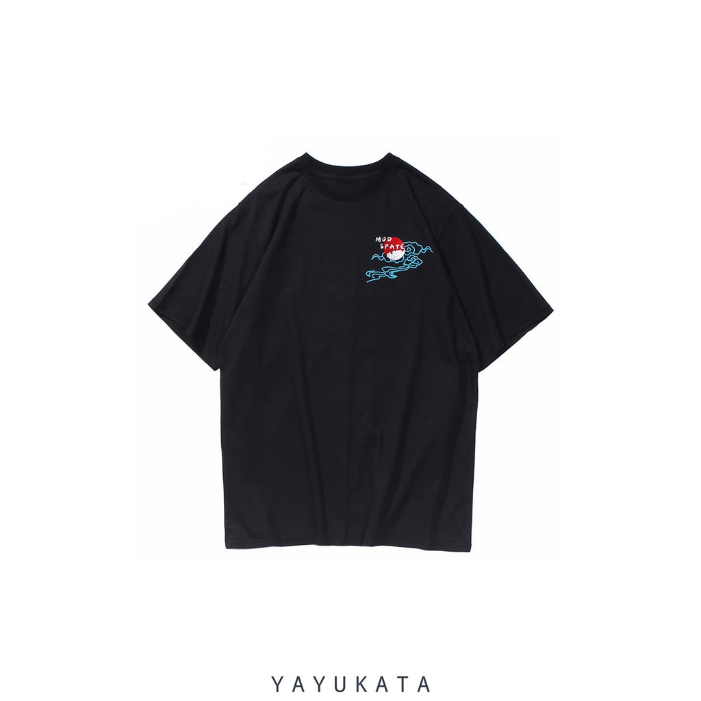 YAYUKATA Tees XG0 Embroidered Japanese Crane Tee