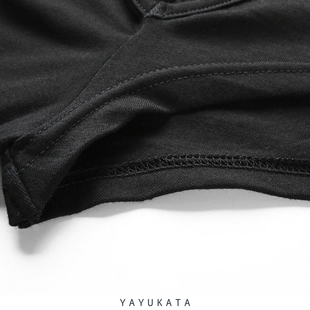 YAYUKATA Tops Black / L YAYUKATA NA1 Long Sleeve Crop Top