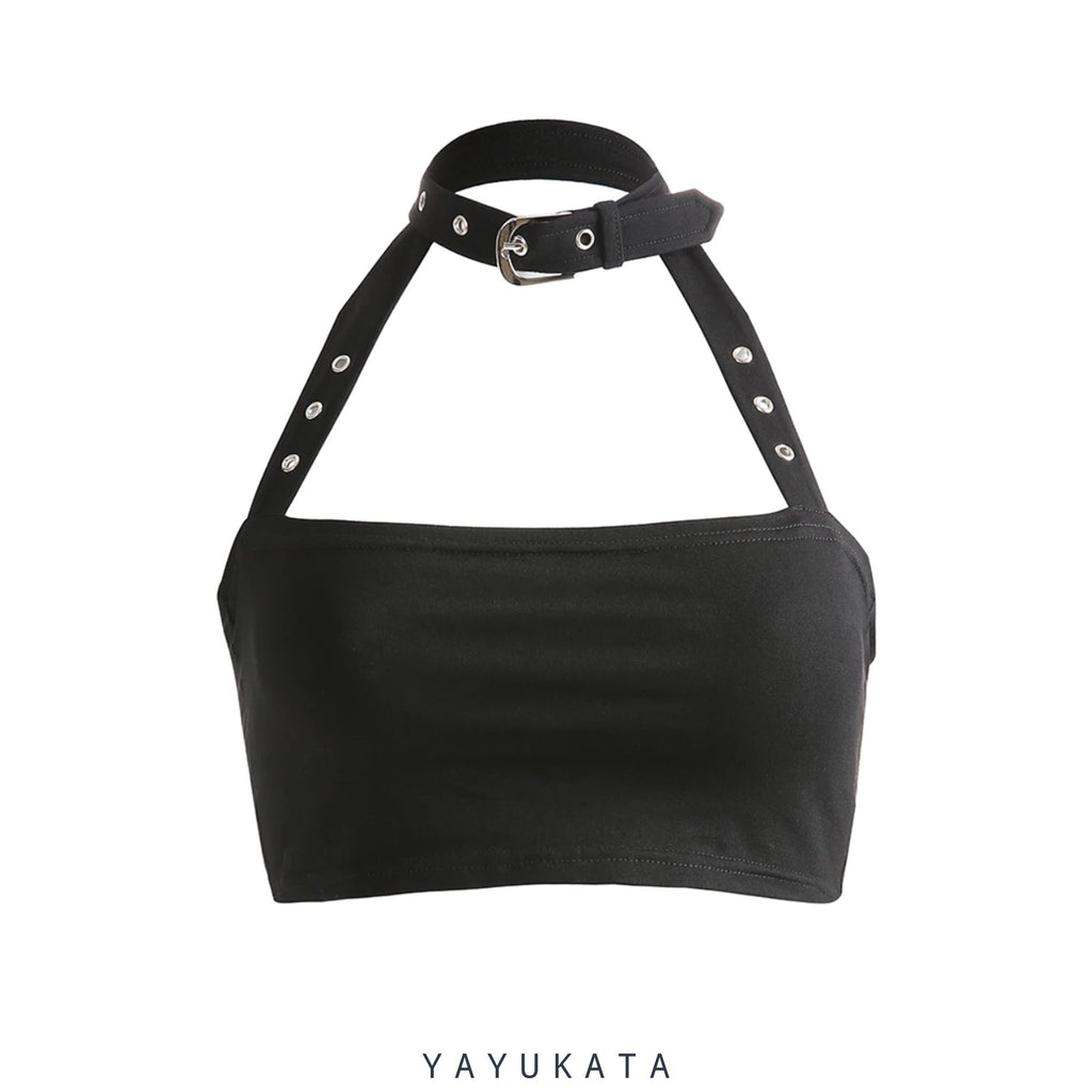 YAYUKATA Tops Black / S YAYUKATA MC4 Sleeveless Crop Top