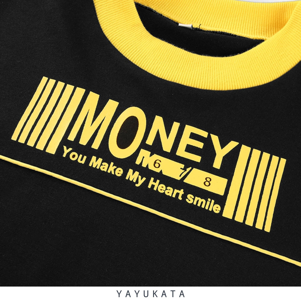 "YAYUKATA Tops S YAYUKATA IS2 ""MONEY"" Cropped Sweater"