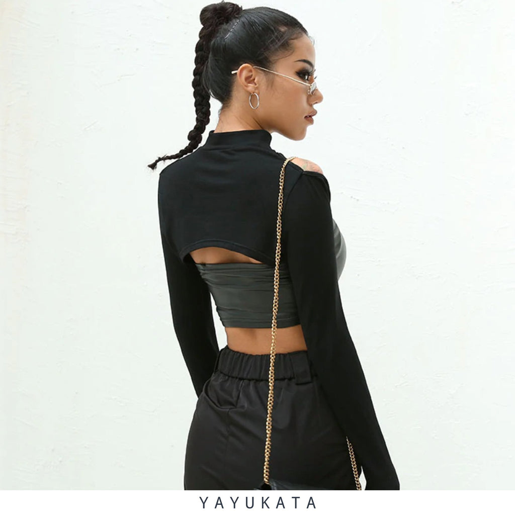 YAYUKATA Tops S YAYUKATA NA1 Long Sleeve Crop Top