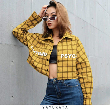 YAYUKATA Tops Yellow / L YAYUKATA ZY6 Plaid Blouse