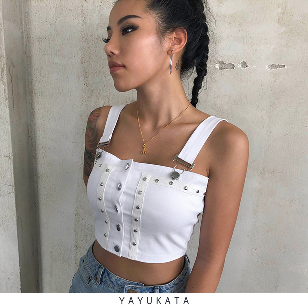 YAYUKATA Tops ZA4 Sleeveless Cargo Top