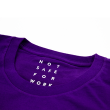 Load image into Gallery viewer, NSFW purple camouflage tee